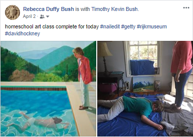 Homeschool Art Class - Day #1 - David Hockney