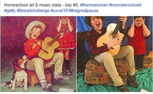 "Homeschool Art & Music Class - Day #5 - Norman Rockwell ""The Music Man"""