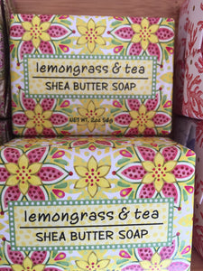Lemongrass & Tea Shea Butter Soap