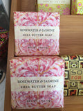 Rosewater & Jasmine Shea Butter Soap