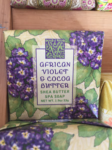 African Violet & Cocoa Butter Shea Butter Spa Soap