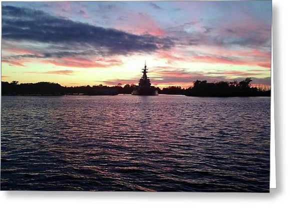 Battleship NC - Greeting Card