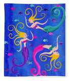 Blowing Bubbles Mermaids - Blanket