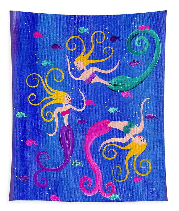 Blowing Bubbles Mermaids - Tapestry