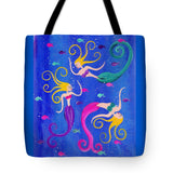 Blowing Bubbles Mermaids - Tote Bag
