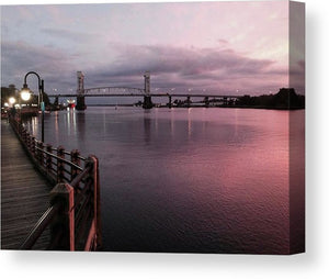 Cape Fear River at Sunset - Canvas Print