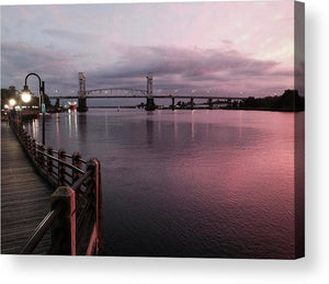Cape Fear River at Sunset - Acrylic Print