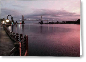 Cape Fear River at Sunset - Greeting Card