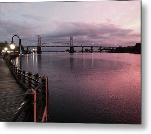 Cape Fear River at Sunset - Metal Print