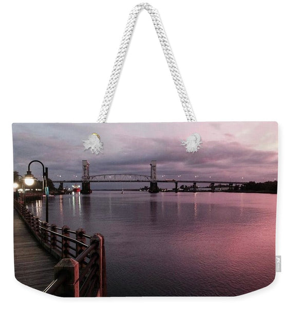 Cape Fear River at Sunset - Weekender Tote Bag