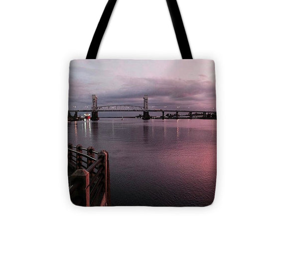 Cape Fear River at Sunset - Tote Bag