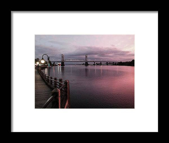 Cape Fear River at Sunset - Framed Print