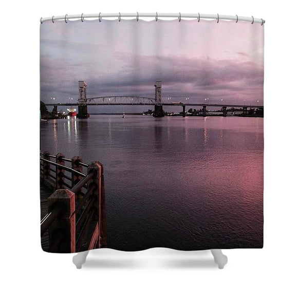 Cape Fear River at Sunset - Shower Curtain