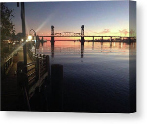 Cape Fear Riverwalk - Canvas Print