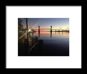 Cape Fear Riverwalk - Framed Print