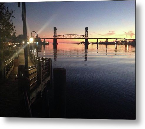 Cape Fear Riverwalk - Metal Print