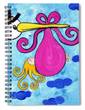 Happy Baby Girl - Spiral Notebook