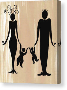 Happy Family Two - Canvas Print