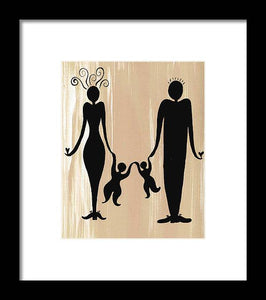 Happy Family Two - Framed Print