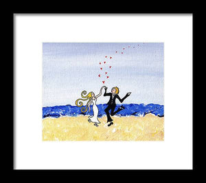 Happy Wedding - Framed Print