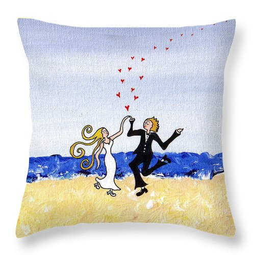 Happy Wedding - Throw Pillow