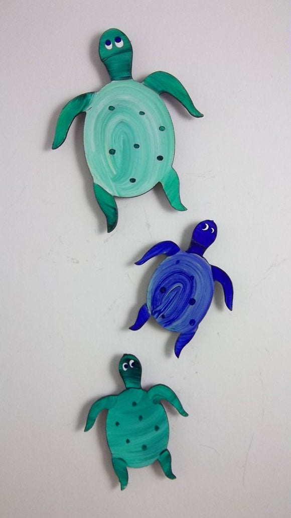 Magnets - Sea Turtle - Super Strong Hand Painted Steel - Small