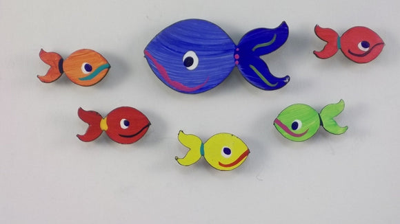 Fish Magnets - Small - Super Strong Hand Painted Steel