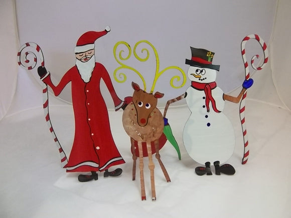 Ho! Ho! Ho! Holiday Sculptures - Santa, Reindeer, Snowman - Pick One