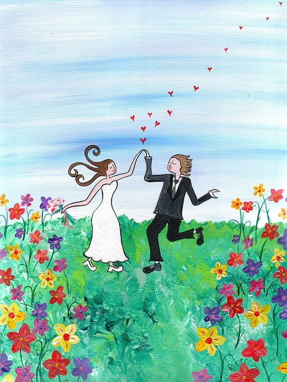 Happy Wedding (springtime)- hand signed, limited edition print