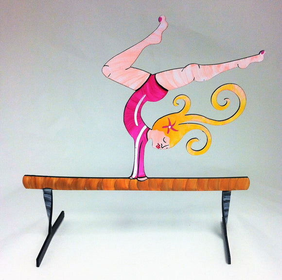 Gymnast - Hand Painted Steel Sculpture