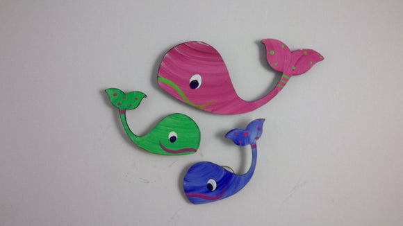Magnets - Whales - Super Strong Hand Painted Steel
