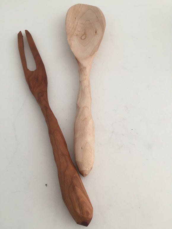 Hand carved fork