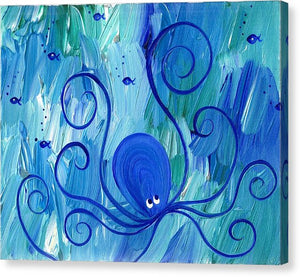Octopus Swimming - Canvas Print