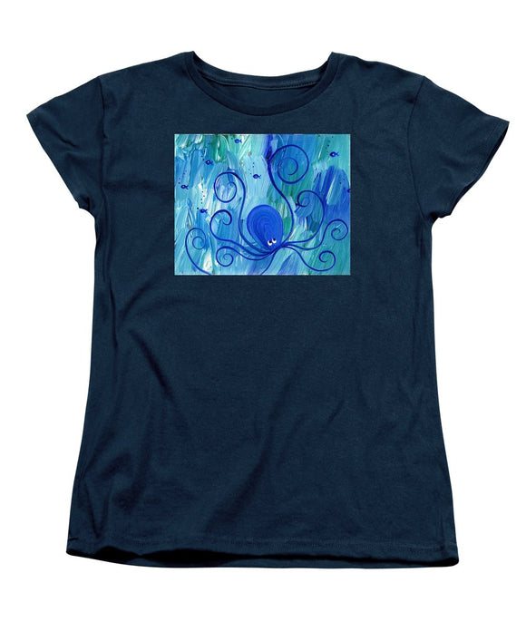 Octopus Swimming - Women's T-Shirt (Standard Fit)