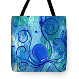 Octopus Swimming - Tote Bag