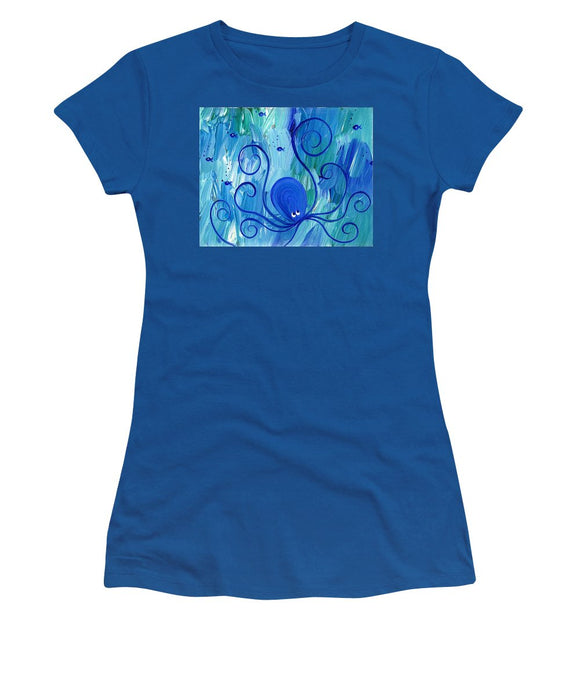Octopus Swimming - Women's T-Shirt