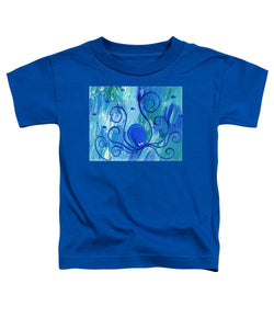 Octopus Swimming - Toddler T-Shirt