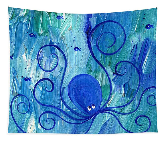Octopus Swimming - Tapestry
