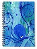 Octopus Swimming - Spiral Notebook