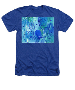 Octopus Swimming - Heathers T-Shirt