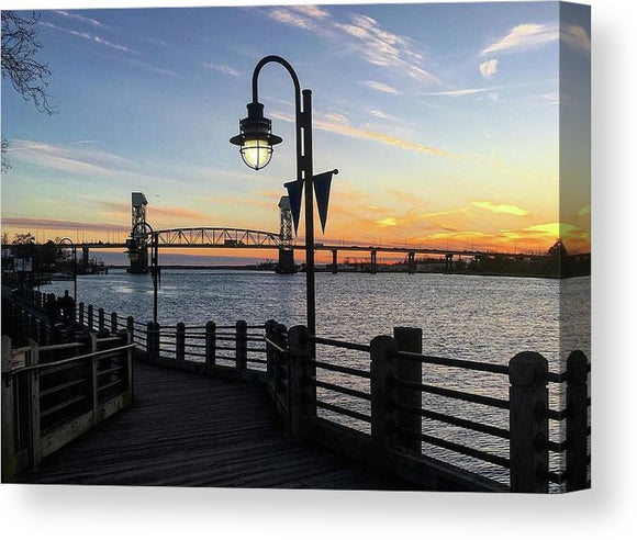 Sunset on the Cape Fear - Canvas Print