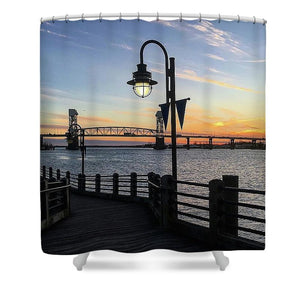 Sunset on the Cape Fear - Shower Curtain
