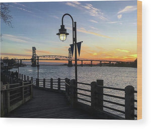 Sunset on the Cape Fear - Wood Print