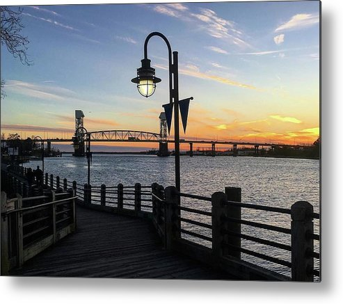 Sunset on the Cape Fear - Metal Print