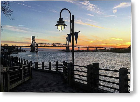 Sunset on the Cape Fear - Greeting Card