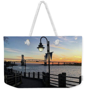 Sunset on the Cape Fear - Weekender Tote Bag