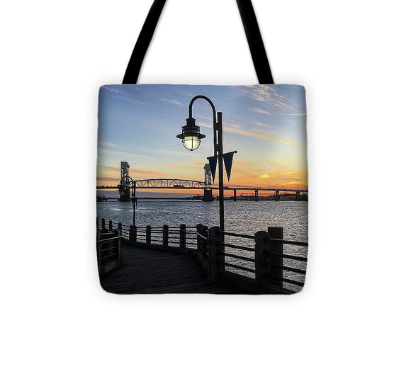 Sunset on the Cape Fear - Tote Bag