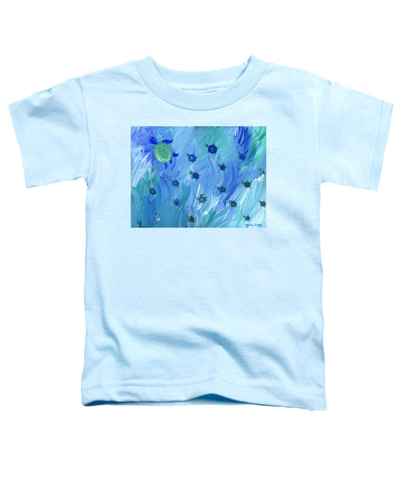 Swimming Turtles - Toddler T-Shirt