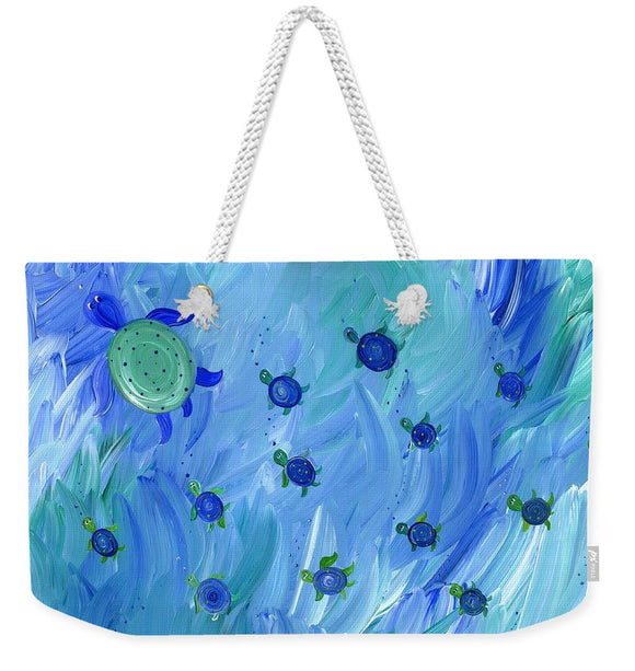 Swimming Turtles - Weekender Tote Bag