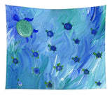 Swimming Turtles - Tapestry
